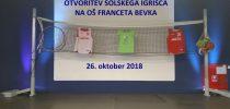 Otvoritev šolskega igrišča – 26. 10. 2018